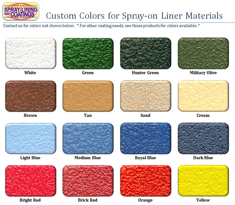Rhino Liner Colors >> Color Match Bed Liner Kit