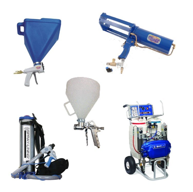 Spray Lining and Coatings spray equipment